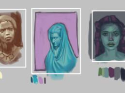 5 Head Paintings